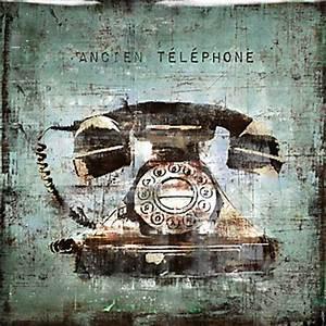 Telephone Mural Vintage : vintage telephone glass coat typography art themes art z gallerie ~ Teatrodelosmanantiales.com Idées de Décoration