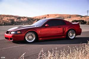 Red Ford Mustang 4th Gen 03 SVT Cobra Terminator - CCW D110 Wheels in Brushed w Polished Lips ...