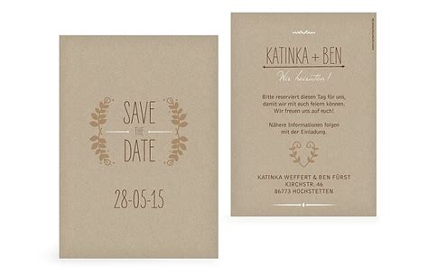 save  date karte rustic love