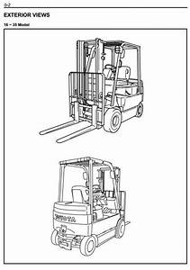 Full Original Illustrated Factory Workshop Service Manual For Toyota Electric Forklift Truck