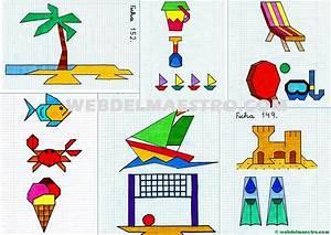 Dibujos en cuadrícula sobre la playa Web del maestro