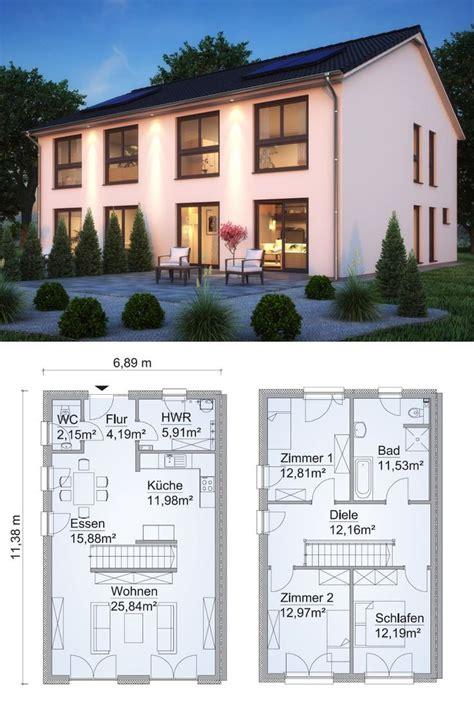 Doppelhaushälfte Grundrisse Modern by Doppelhaus Architektur Modern Grundriss Schmal Mit