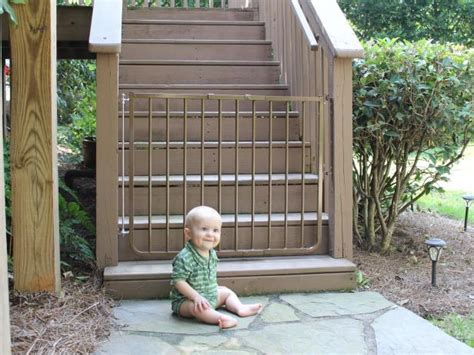outdoor gate for deck stairs how to keep your deck safe for and pets hgtv 7227