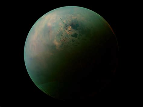 Titan S by Cassini Gets New Views Of Titan S Land Of Lakes