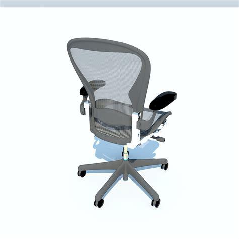 aeron work chair herman miller 3d model max obj 3ds fbx