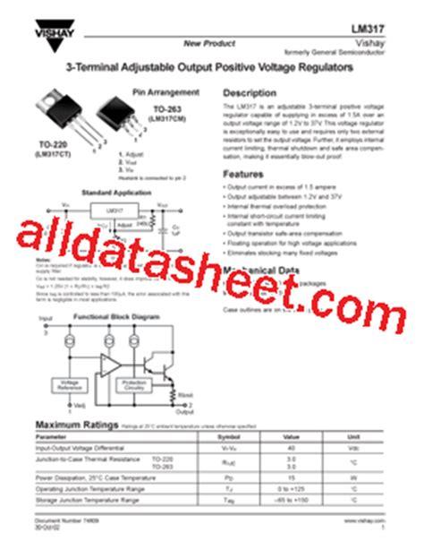 LM317 Datasheet(PDF) - Vishay Siliconix