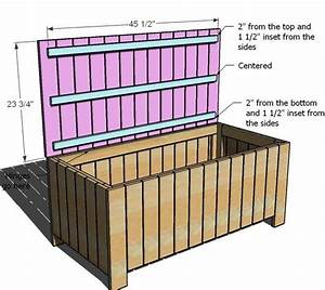 Wood Garden Storage Box Plans - WoodWorking Projects & Plans