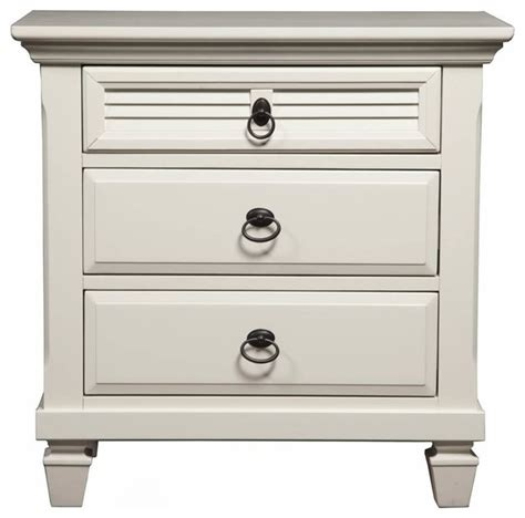 Contemporary White Nightstands by 3 Drawer Nightstand White Contemporary Nightstands