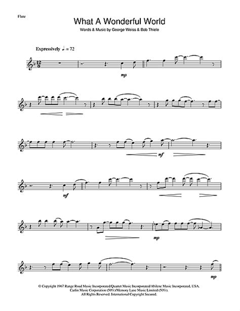 Louis Armstrong Wonderful World Chords