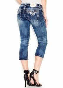 Miss Me Miss Me Embroidered Capri Jeans Dark Blue Wash | Denim - Shop It To Me