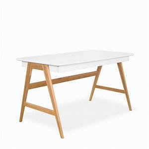Bureau Design Scandinave : bureau laqu ch ne blanc 120x70cm skoll look scandinave ~ Teatrodelosmanantiales.com Idées de Décoration