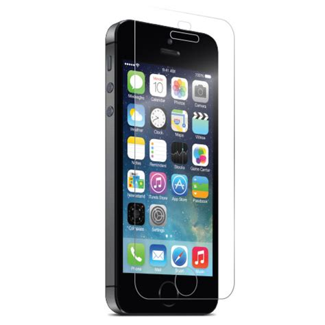 iphone 5 5s 5c clear tempered glass screen protectors covers