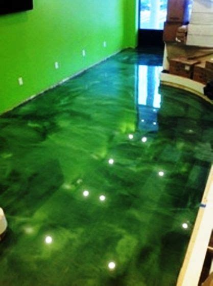 epoxy flooring green    metallic epoxy floors