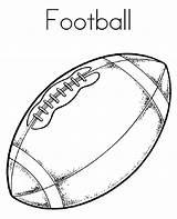 Football Coloring Preschoolers Printable Activity Via sketch template