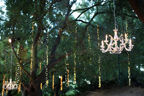 Chandelier Forest by Outdoor Wedding At Winery In Malibu Sparkling