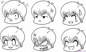 How to Draw Chibi Expressions, Step by Step, Chibis, Draw ...