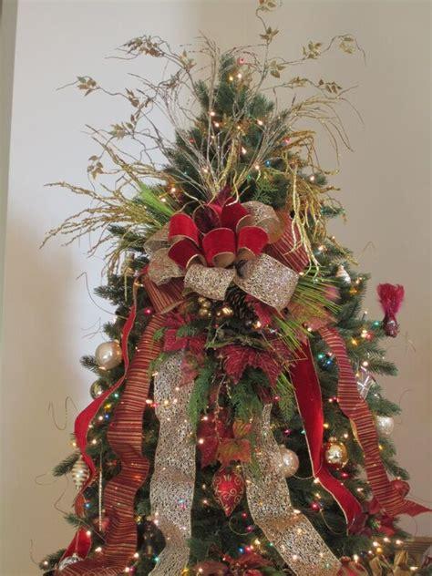 silver  burgundy  themed christmas tree