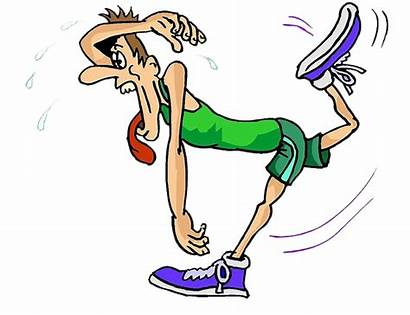 Run Cartoon Tired Runner Louve Accidentally