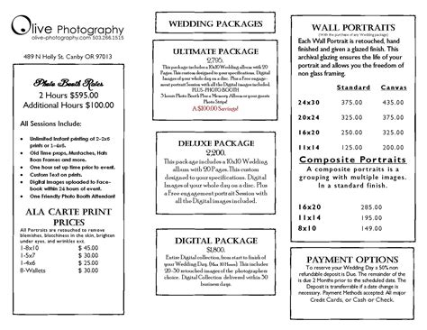 prices olive photography