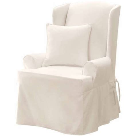sure fit matelasse damask wing chair slipcover walmart