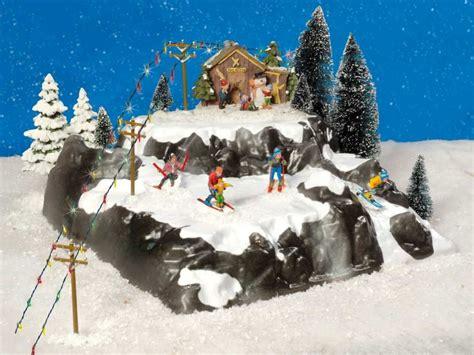 Winterlandschaft Selber Basteln by Lichth 228 User Miniatur Figuren Podest Skipiste