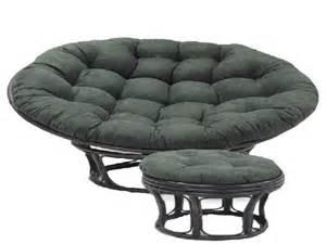 papasan chair with micro suede cushion