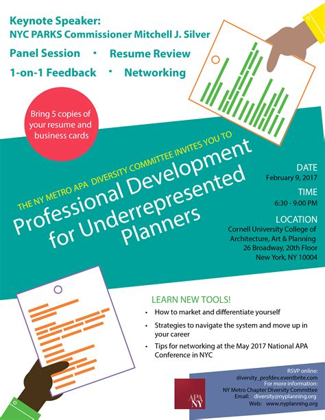 York Resume Workshop by Professional Development For Underrepresented Planners Panel Resume Workshop And Networking