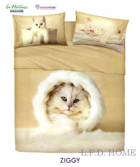 completo lenzuola ziggy una piazza natura animali gatto rachael hale bassetti ebay