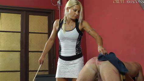 Slaves Lydia Tramples Punches And Dominates Boy Slave