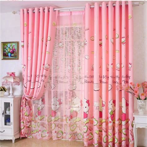 kitty candy cupcake pink curtain curtain panel