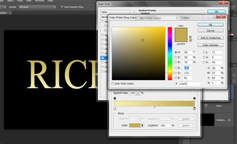 gold color photoshop gold text effect