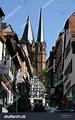 Church Towers, Gelnhausen, Hesse, Germany Stock Photo ...