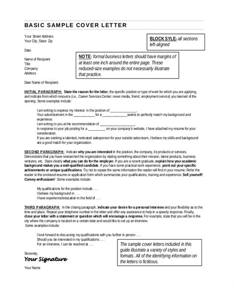 Business Resume Format by Sle Resume Cover Letter Format 6 Documents In Pdf Word