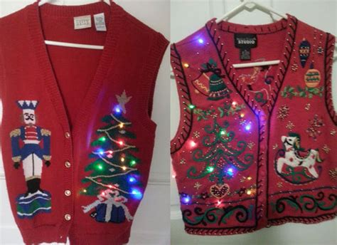 12 tacky lighted sweater vest