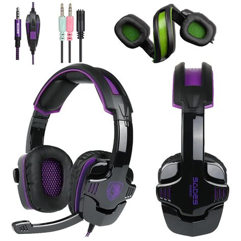 gaming headset ps4 test sades sa930 stereo surround pro gaming headset headphone for pc xbox one ps4 usa ebay
