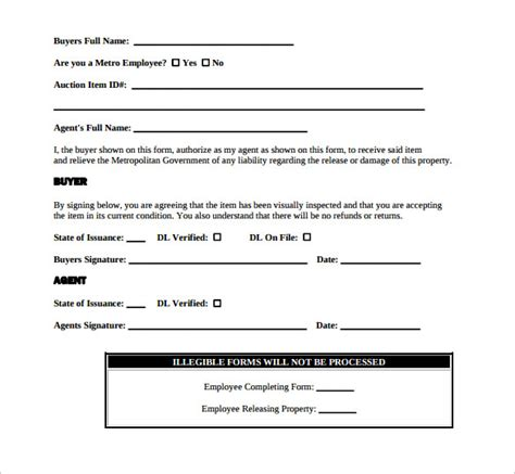 property release forms     sample