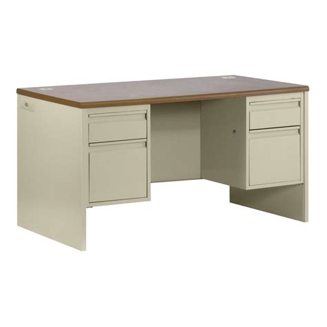 home depot desk sandusky 800 series pedestal credenza steel desk in