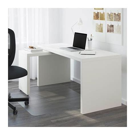 tablette bureau malm bureau avec tablette coulissante blanc malm