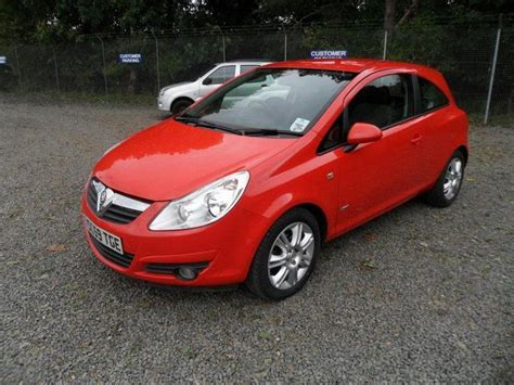 vauxhall red used vauxhall corsa 2010 red paint petrol 1 4i 16v design