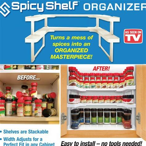 As Seen On Tv Spice Rack Reviews as seen on tv spicy shelf stackable spice rack organizer