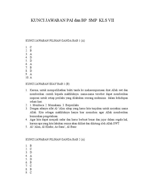Home » kelas 7 » smp » uas » zz » download kumpulan soal dan kunci jawaban uas (pas) smp kelas 7 semester 1 (ganjil) kurikulum 2013 dan ktsp. Soal Agama Islam Smp Kelas 8 Dan Kunci Jawaban - Dunia ...