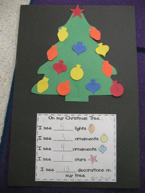 christmas ideas for kindergarten tree counting natale scuola matematica alberi