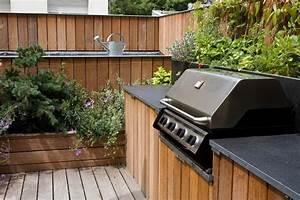 cuisine exterieure meuble rangement terrasse pinterest With amenagement de terrasse exterieur 15 couverture bac acier