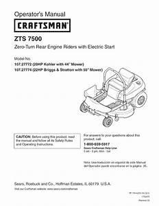 Craftsman Zts 7500 Belt Diagram