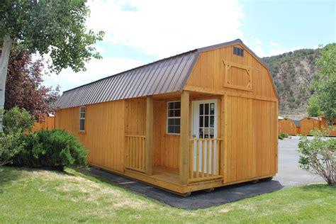 lofted barn cabin for side lofted barn cabin cumberland buildings sheds