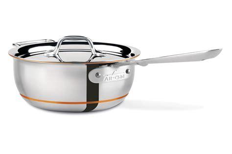 clad copper core saucier  quart cutlery