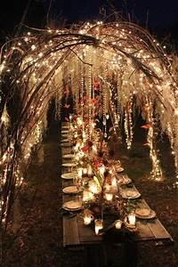 17 meilleures idees a propos de mariages de theme de foret With decorer un mur exterieur 17 decoration salle mariage lumiere illumination