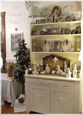 enchanted cottage sweet memories  manger    bird tree