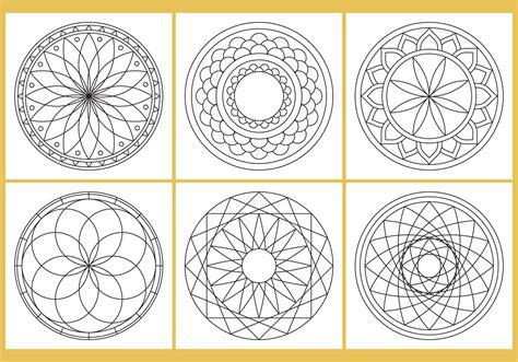 coloring mandala page vectors   vector art