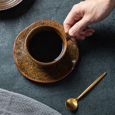 Santa fe mugs reminiscent of enameled cookware, with a thicker ceramic construction. 2020 New Porcelain Cup Tea Sets, 225ml / 125ml Restaurant Rustic Fancy Ceramic Cappuccino Coffee ...